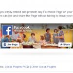 FaceBookページ「Page Plugin」登録サイト