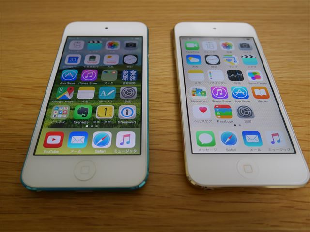 iPod touch 6thとiPod touch 5thを比較