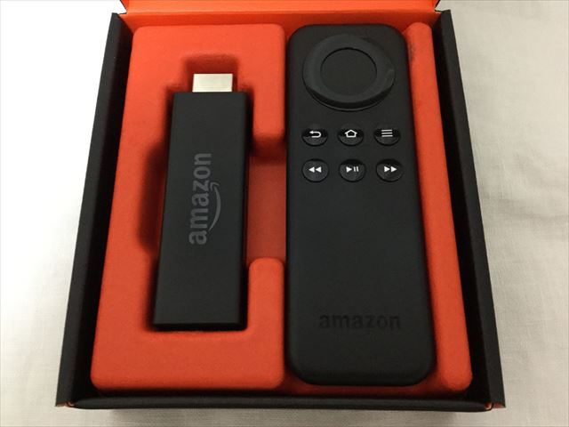 Amazon「fire TV stick」開封