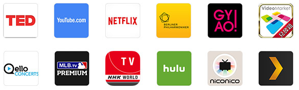 Amazon「fire TV stick」ストリーミングサービス