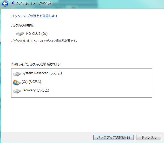 Windows7をバックアップする方法・バックアップされるデータの種類