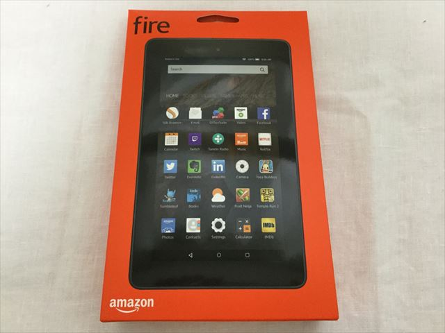 Amazon「Fire Tablet 8GB」開封