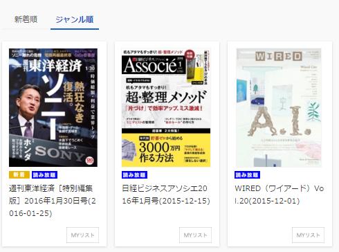 U-NEXTで読み放題雑誌、PCの場合