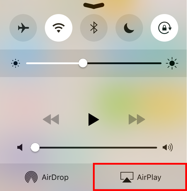 iOSのAir Playボタン