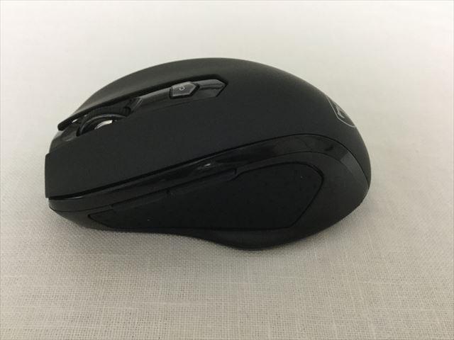 Qtuo2.4Gワイヤレスマウス、親指をおく個所