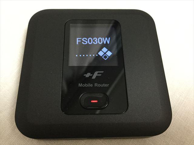 スマモバ「+F FS030W」本体電源を入れた直後