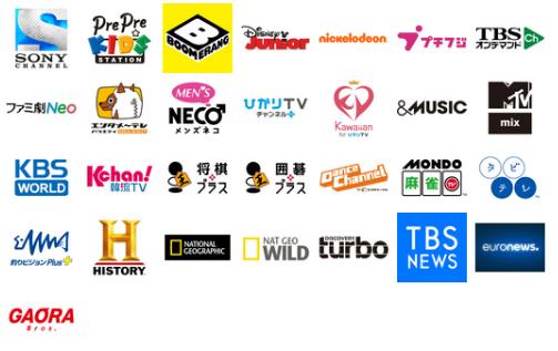 「dTVチャンネル」30番組アイコン
