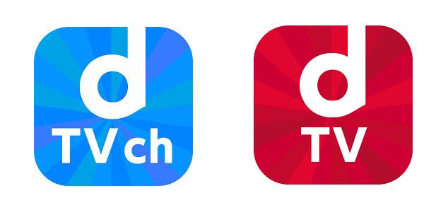 「dTVチャンネル」と「dTV」のロゴ