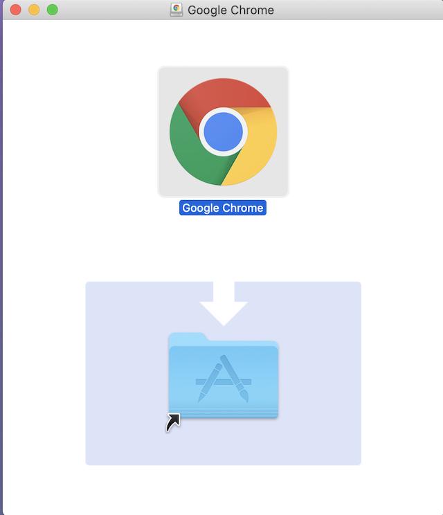 Google Chromeをフォルダに追加