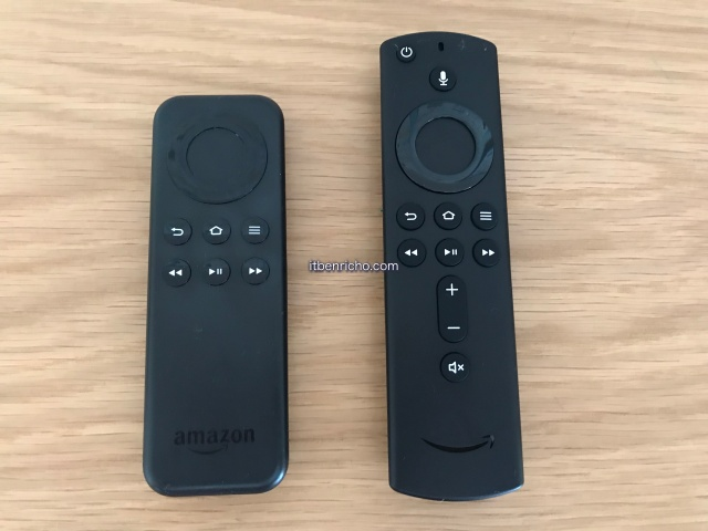 Fire TV Stickリモコン、初代と最新版の比較