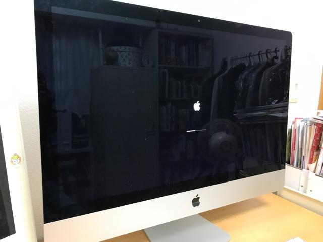 iMacの電源を入れた直後