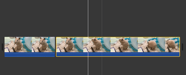 iMovie、クリップが分割された