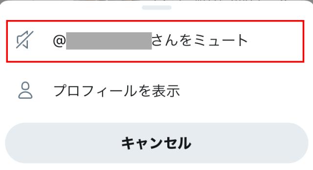 Twitter「フリート」をミュートする方法。「Aさんをミュート」ボタン