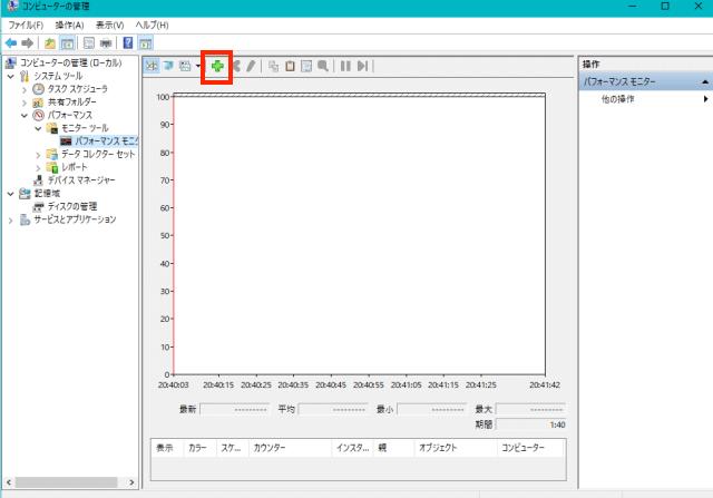 [Windows10]パフォーマンスモニター