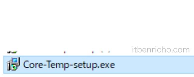 「Core-Temp-setup.exe」