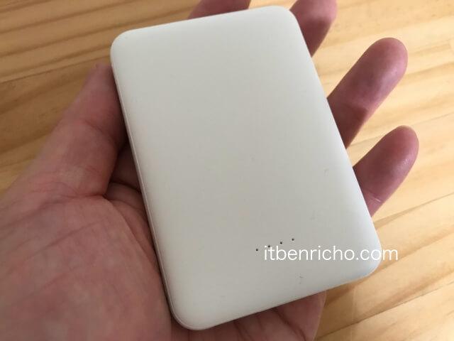 ダイソー(Daiso)スマートフォンモバイルバッテリー(4000mAh)